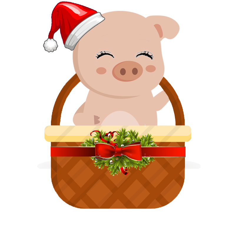 VHappy cesta de Navidad